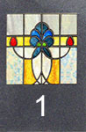 D018SG 1:12 Stained Glass Insert for D018