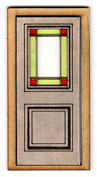 D115S 1:24 Stained Glass Insert for Door D115