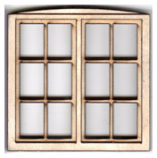 W106 1:24 Double Casement Window