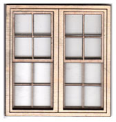 W111 1:24 Double Georgian Sash Window