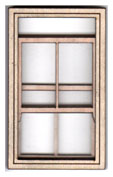 W112 1:24 Single Victorian Sash Window