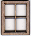 W201 1:48 Four Pane Casement Window